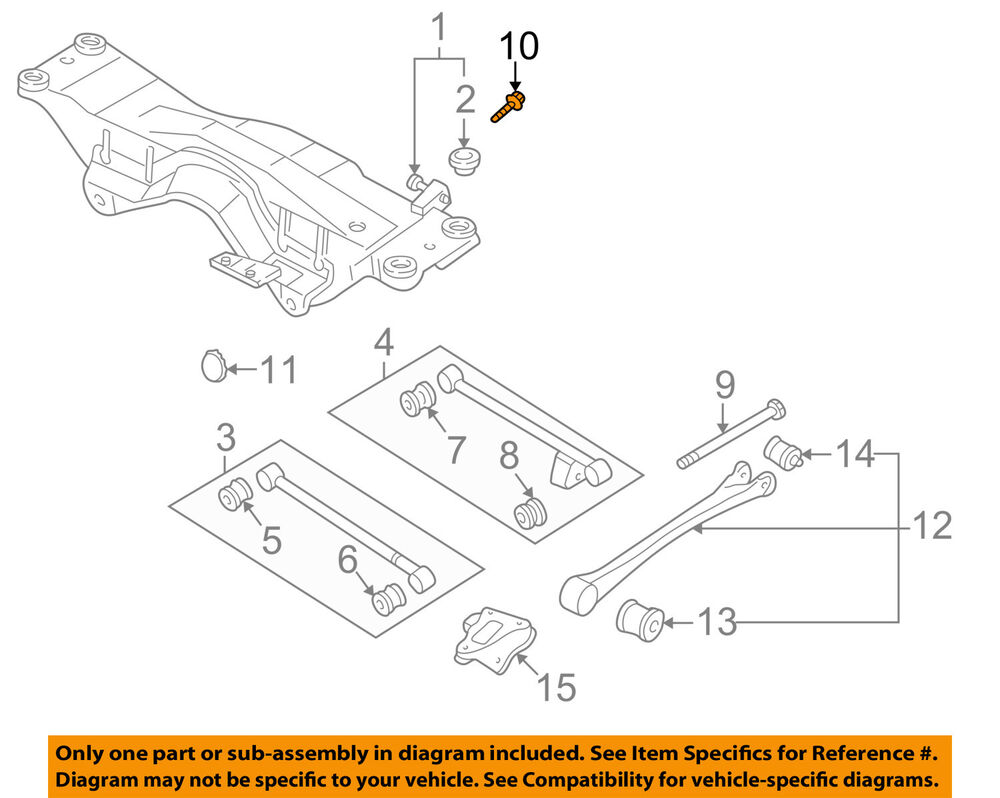 hight resolution of details about subaru oem 93 07 impreza rear suspension alignment cam 20540aa111
