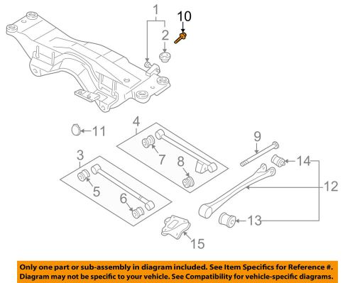 small resolution of details about subaru oem 93 07 impreza rear suspension alignment cam 20540aa111