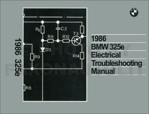 1986 BMW 325e Electrical Troubleshooting Manual Wiring