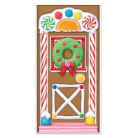 CHRISTMAS Party Decoration GINGERBREAD HOUSE Door Cover ...