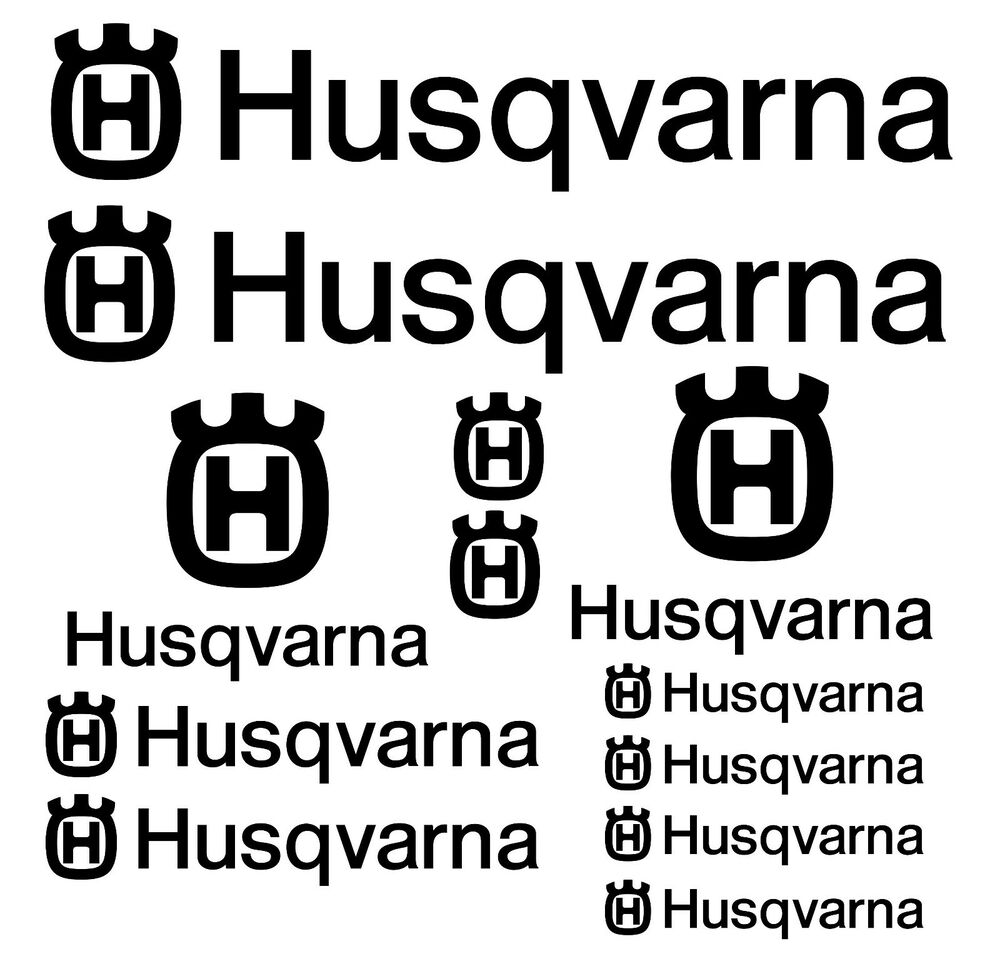 Husqvarna Motorcycle Decal Stickers KIT 12pcs- SUPER PRICE
