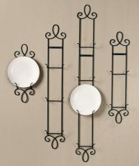 New Augusta BLACK Narrow Vertical Plate Holder Rack Wall