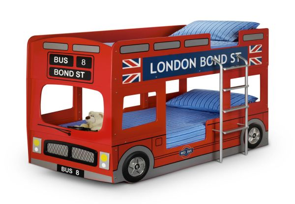 London Bus Bunk Bed Childrens Novelty Bunk Bed Kids