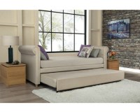 DAY BED LEATHERETTE UPHOLSTERED SOFA COUCH DAYBED w/ TWIN ...