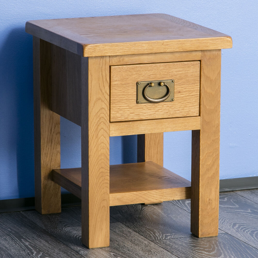 Surrey Oak Side Table  Solid Wood Lamp Table  Brand New  Small Coffee Table  eBay