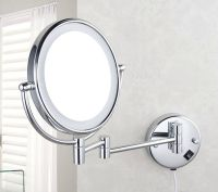 2015 Bathroom Wall Mount Lighted Dual Sided Makeup Mirror ...