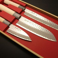 Japanese Kitchen Knives Damascus Chef's Knife Set Seki Tobei Yanagiba ...