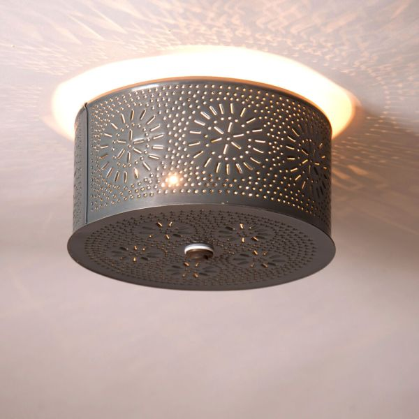 Punched Tin Ceiling Lights