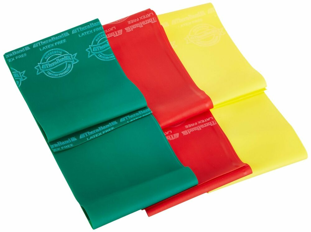 TheraBand Professional Latex-Free Resistance Bands 6' Non Latex - Set of 3 | eBay