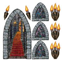 GAME of THRONES Medieval CASTLE STAIRWAY WINDOW TORCH ...