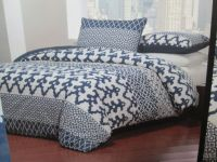 Tahari Home Full/Queen Duvet Cover & Shams Set - Navy Blue ...