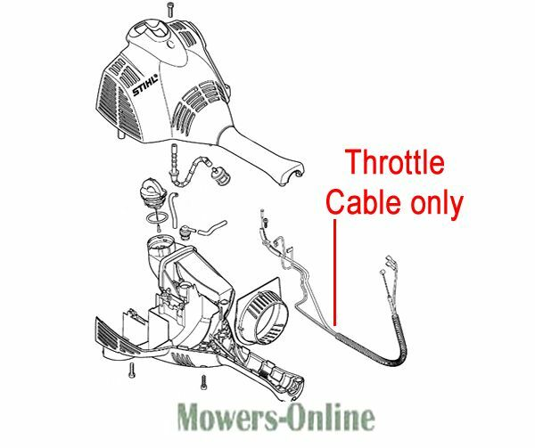 Genuine Stihl Throttle Cable 4144 180 1100 KM Kombi
