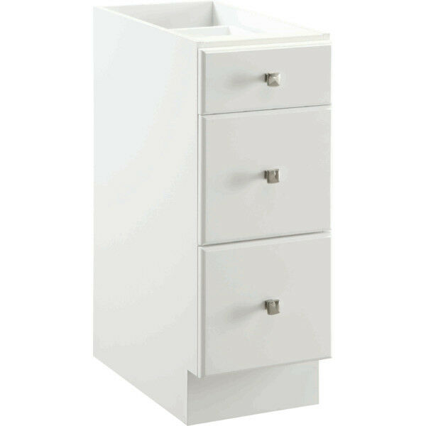 Bathroom Vanity Drawer Base Thermofoil Cabinet White 12