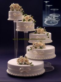 5 TIER CASCADING WEDDING CAKE STAND STANDS SET | eBay