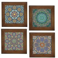 MOROCCAN PATTERNS HOME DECORATIVE CERAMIC FRAMED TILE/WALL ...