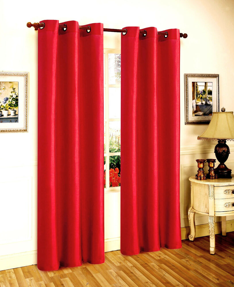 1 PANEL BRIGHT RED SOLID FOAM LINED BLACKOUT WINDOW