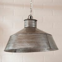 LARGE SPRINGHOUSE PENDANT Light in Antique Polished Tin ...