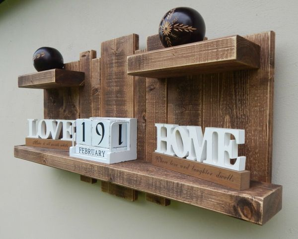 Floating Shelf Home Wall Hanging Distressed Storage Rustic