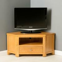 Poldark Oak Corner TV Stand / Light Oak Small TV Unit ...