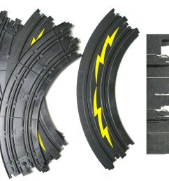 details about 4pc tomy afx ho slot car 1 4 9 curve slalom track 3349 yel newoldstock aw too [ 1000 x 870 Pixel ]