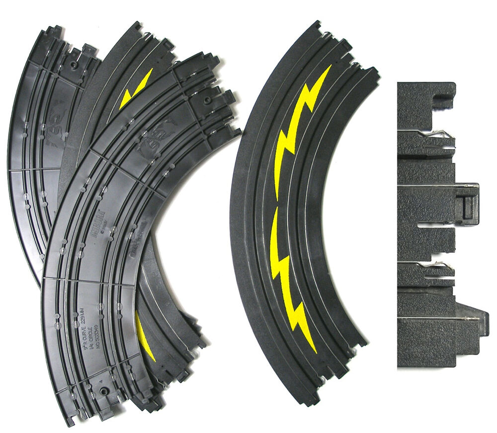 hight resolution of details about 4pc tomy afx ho slot car 1 4 9 curve slalom track 3349 yel newoldstock aw too
