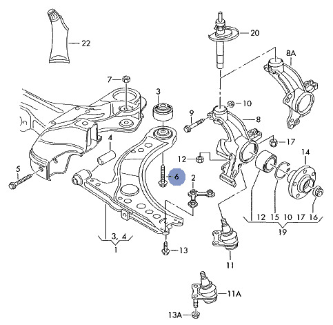 1998 Lincoln Town Car Front Suspension Diagram