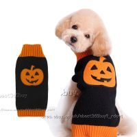 Halloween Dog Sweater Pumpkin Knitted Fancy Dress Jumpers ...