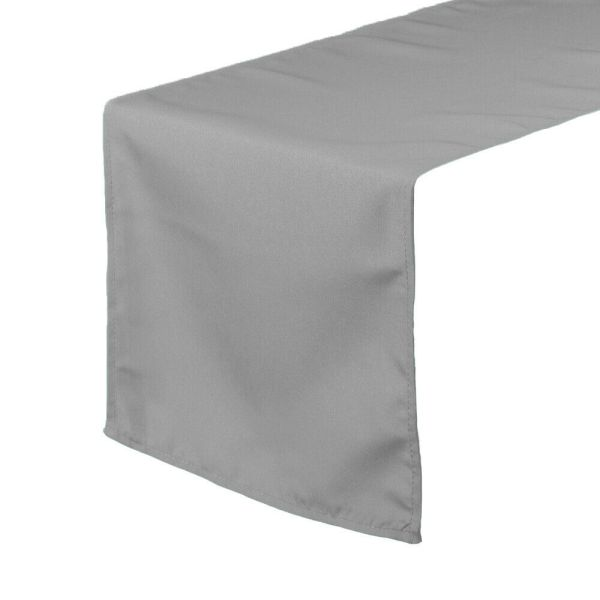 Ycc - 14 X 108 Polyester Table Runner Gray