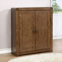 Solid Dark Oak Shoe Cabinet - Fits 20 Pairs | eBay