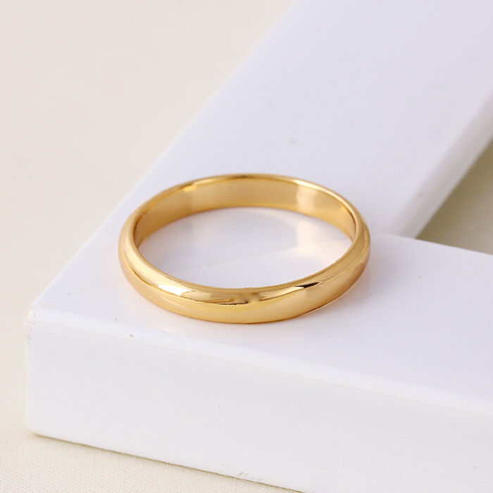 "9ct 9K Yellow ""Gold Filled"" Men Women Plain Wedding Band"