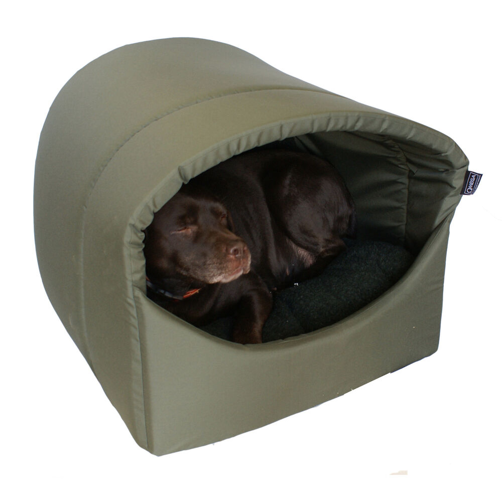 Omega Hooded, Cave, Covered Dog Bed, EXTRA LARGE
