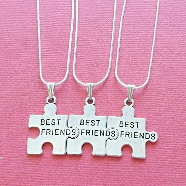 Friend Necklaces 3 Piece Share Pendants And Chains