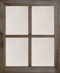 4-Pane Rustic Primitive Medium Barn Wood Window Mirror ...