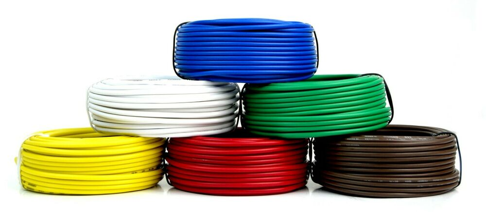medium resolution of details about 6 way trailer wire light cable for harness 50 ft each roll 16 gauge 6 colors