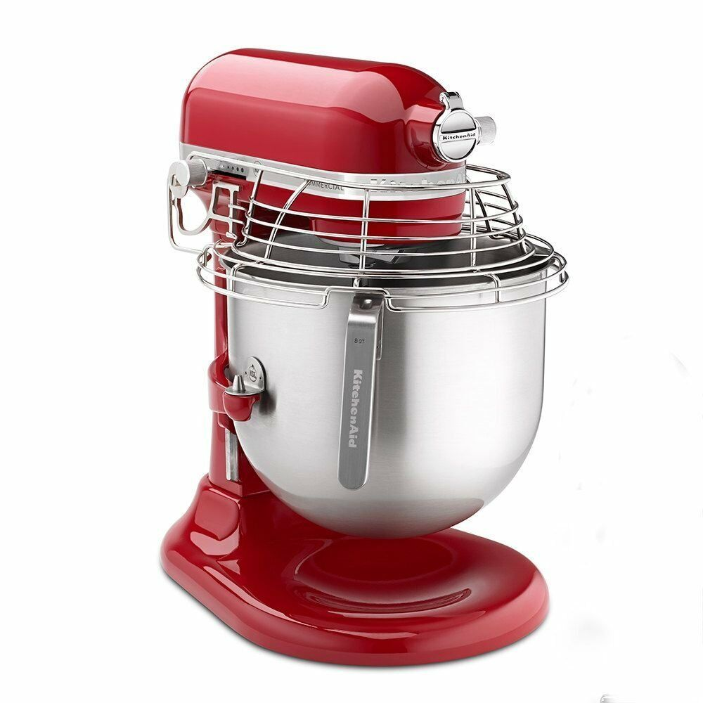 commercial kitchen aid mixer rubber mat new kitchenaid ksmc895er stand red 8 ...