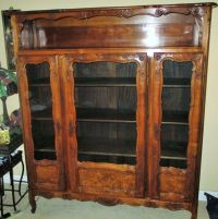 Antique French Provincial Key Cupboard Glass Curio Cabinet ...