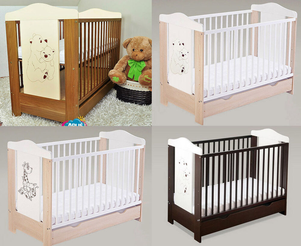 BABY COTS WITH DRAWERBABY BEDCOT BEDS 4 MODELS DUMBO