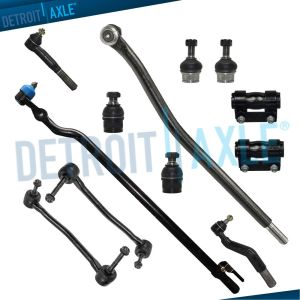 New 12pc Complete Front Suspension Ball Joints Sway Bar End Link Tie Rod  4WD | eBay
