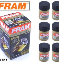 details about 6 pack fram ultra synthetic oil filter top of the line fram s best xg3980 [ 1000 x 838 Pixel ]