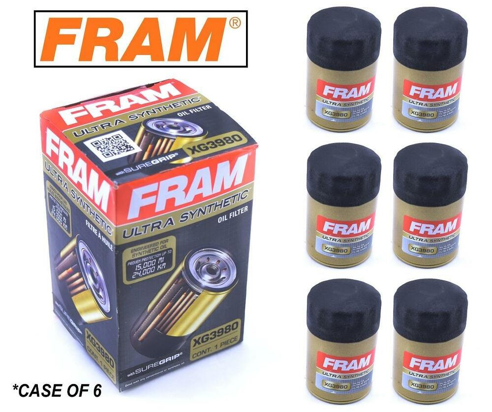 hight resolution of details about 6 pack fram ultra synthetic oil filter top of the line fram s best xg3980