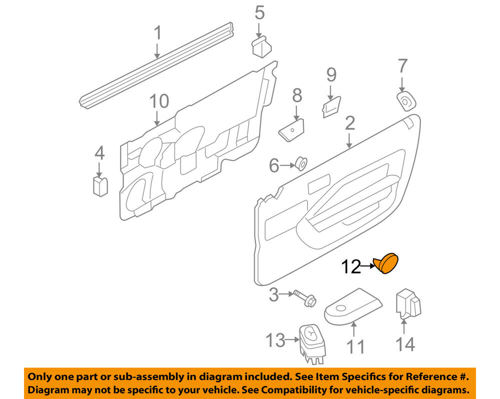 hight resolution of details about ford oem 06 09 mustang door reflector 6r3z6323820a