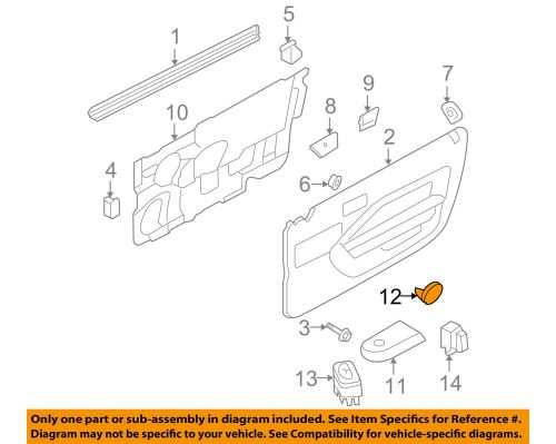 small resolution of details about ford oem 06 09 mustang door reflector 6r3z6323820a
