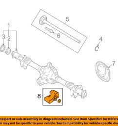details about ford oem 11 14 mustang axle differential rear damper left br3z4a263a [ 1000 x 798 Pixel ]