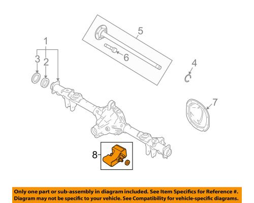 small resolution of details about ford oem 11 14 mustang axle differential rear damper left br3z4a263a