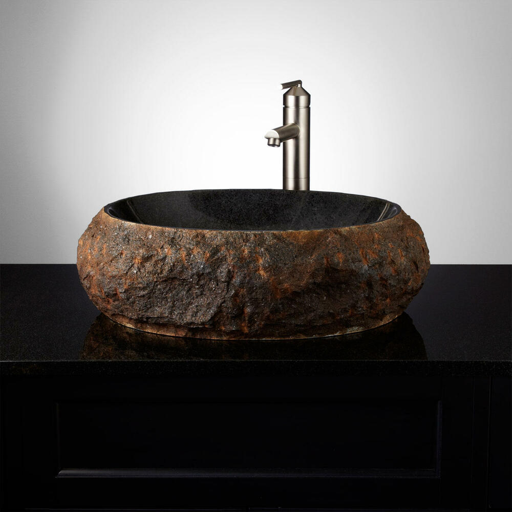 Signature Hardware Ridge Natural Stone Vessel Sink  eBay