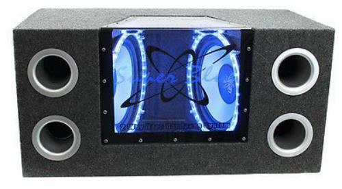 Boss Audio Wiring Kit New 12 Quot Dual Subwoofer Bass Speakers W Bandpass Enclosure