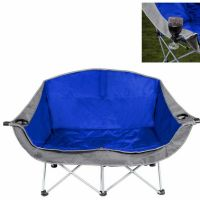 Double Folding Chair Comfortable Camping Love Seat 2 ...