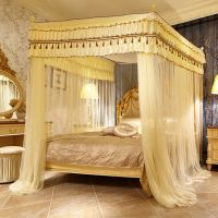 Room bed canopy mosquito net bed curtain with four corners