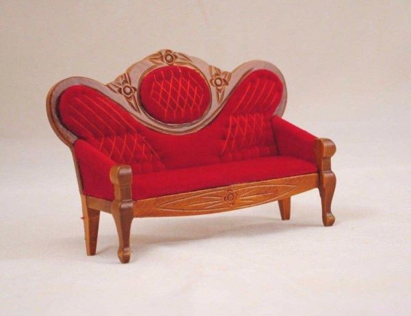 Victorian Sofa Settee D5412 miniature dollhouse furniture