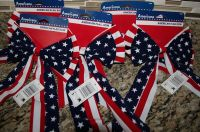 8 American Flag Bows Indoor Outdoor Decorations Red White ...
